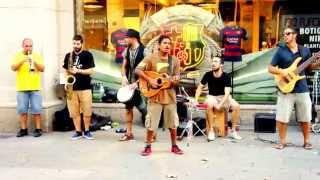Latino Music in Streets of Barcelona
