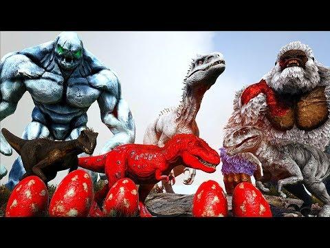 Allosaurus Famintos, Beb�s em Perigo, Ice Golen, Luto!#13 Ark Survival Evolved (PT/BR)