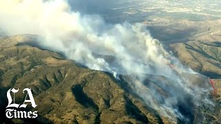Orange County fire threatens communities and evacuates 60,000 residents