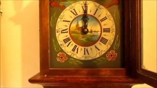Beautiful Large Dutch 8 Day Oak Wood Friese Tailed Wall Clock For Sale On Ebay Uk.