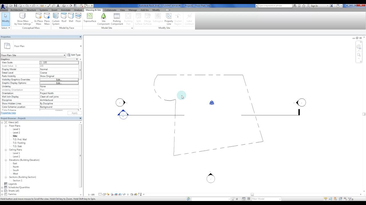 Drawing Property Lines In Revit : Revit creating arcs in property lines youtube