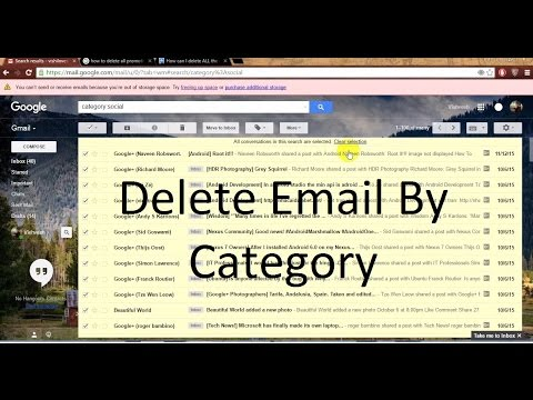 how to delete all mail on gmail  [ Also by category wise..! ]