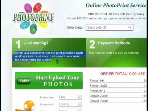 Online Photo Print Service admin area