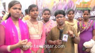 Actor Vijay Fans Celebrate Theri Release