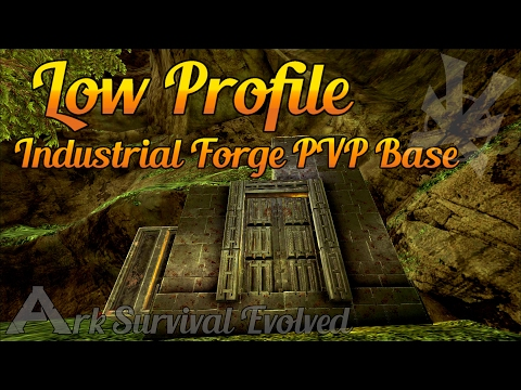 Industrial Forge Base! | Low Profile PVP Build Guide | The Center | Ark: Survival Evolved