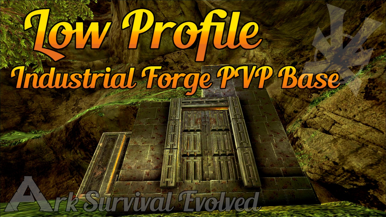 industrial forge base low profile pvp build guide the center ark survival evolved youtube. Black Bedroom Furniture Sets. Home Design Ideas