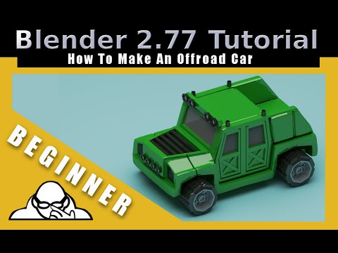 How To Make An Off Road Car In Blender 2.77a