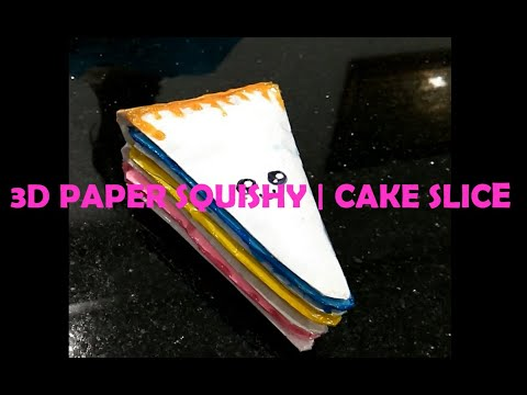 DIY 3D Paper Squishy - Cake Slice (without foam)
