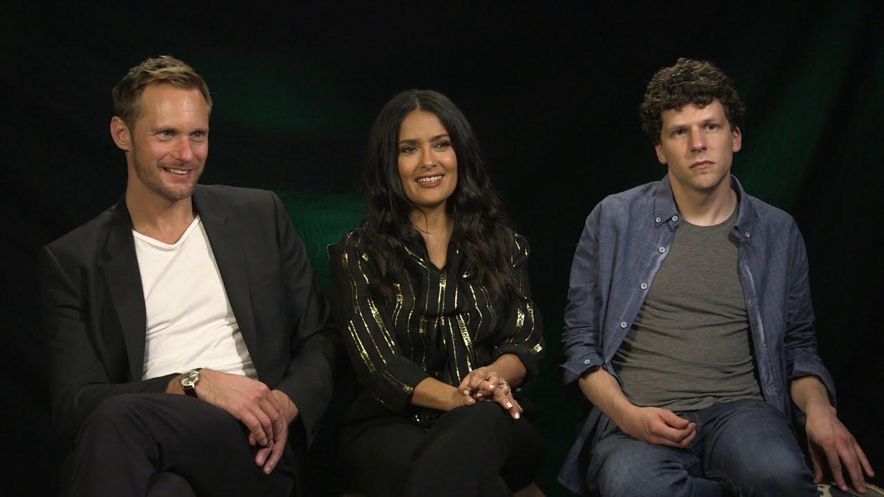 2018 TIFF The Hummingbird Project with Salma Hayek Jesse Eisenberg  Alexander Skarsgard