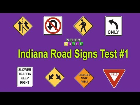 Indiana BMV Road Signs Practice Test 2017 - #1