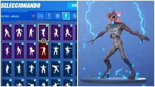 Buying NEW skin *DEMOGORGON* and Dancing *ALL* my BAILES in FORTNITE! (+90) -RoEssYT