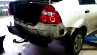 Chevrolet Aveo (Седан) - Снятие заднего бампера