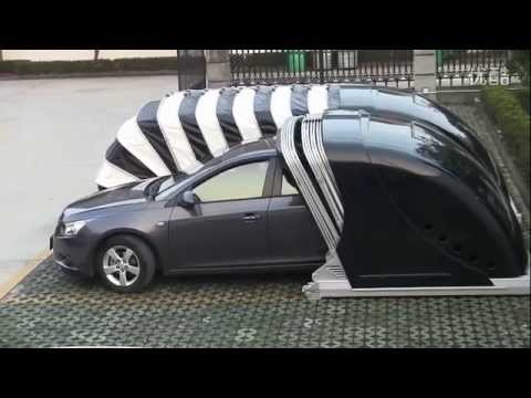 Mechanical engineering students projects--mobile car shelter