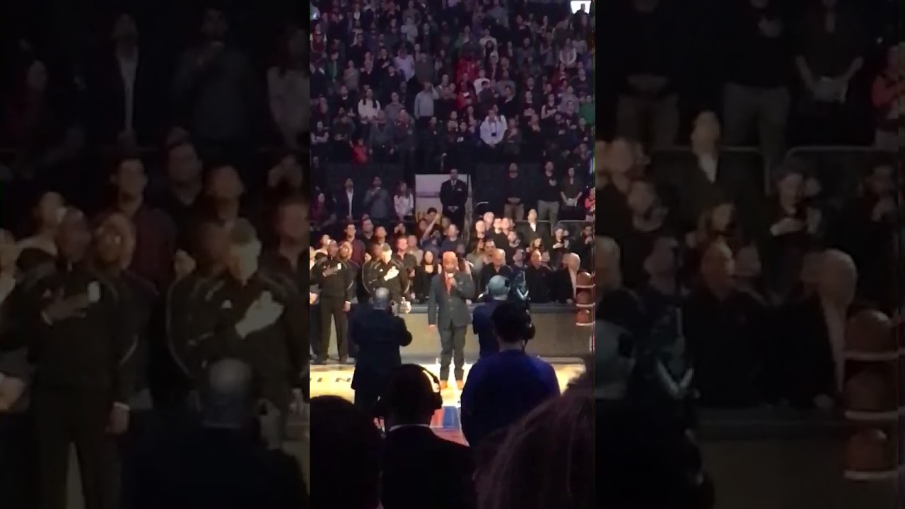 Corey Glover Sings The National Anthem At The Garden NYC