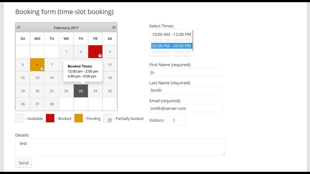 booking calendar times bookings youtube