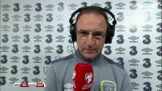 Republic of Ireland v Germany - Post Match Interview - Martin O