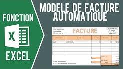 EXCEL - MODÈLE DE FACTURE AVEC SAISIE AUTOMATIQUE (Et import des clients)