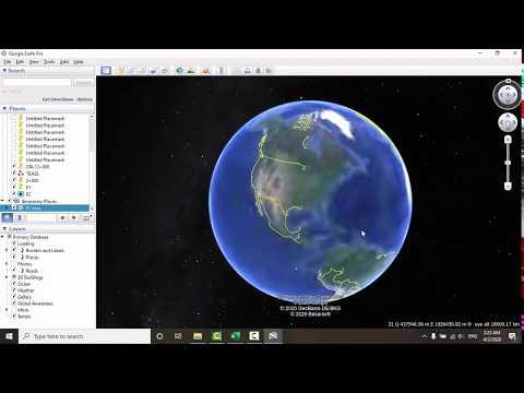 Google Earth Easter Egg.