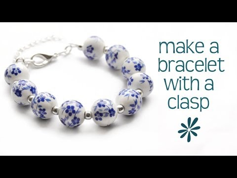 Make a beaded bracelet with a clasp - jewelry making tutorial