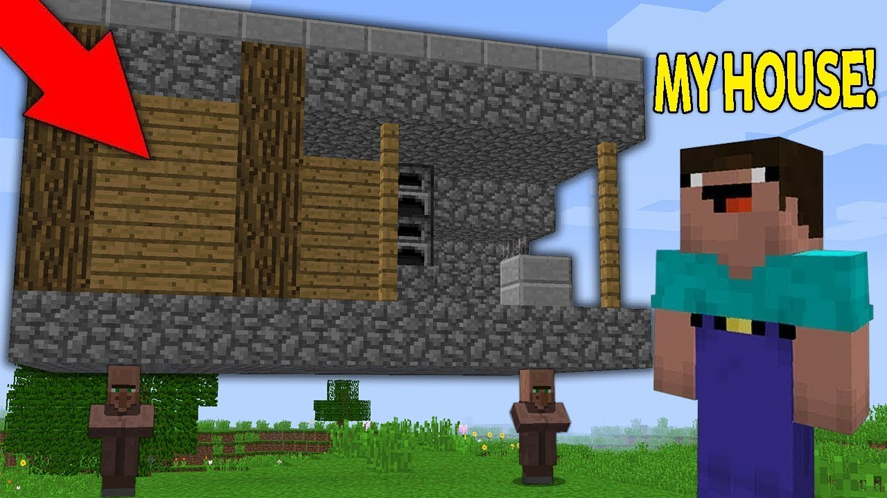 Minecraft NOOB vs PRO : WHERE VILLAGER TAKE THE NOOB HOUSE?! Challenge 100%  trolling