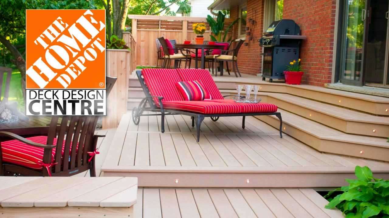 Home depot deck design centre digital signage youtube - Deck ideas for home ...