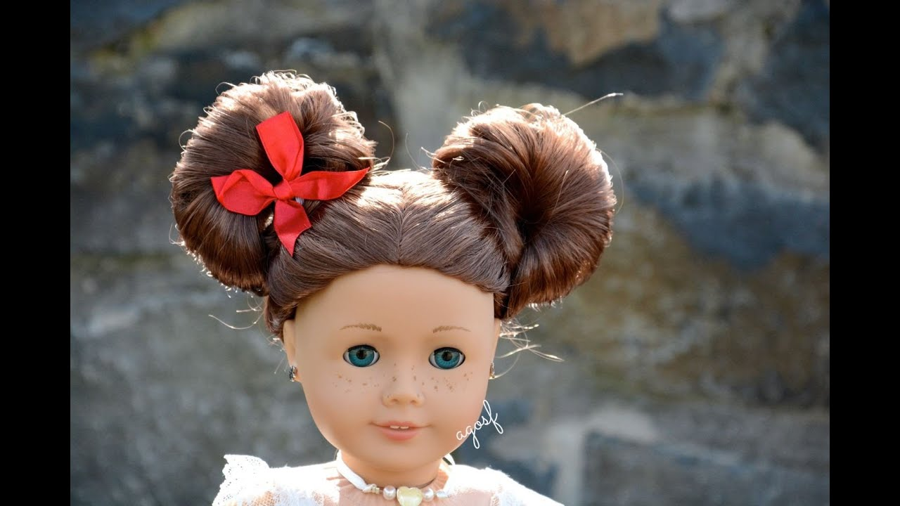 american girl doll disney hairstyle minnie mouse buns ~inspired by