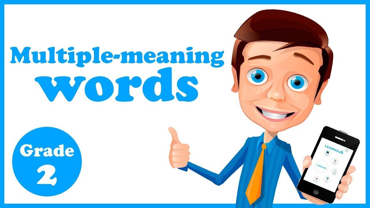 medium resolution of Grade 2 - Multiple meaning Words - YouTube