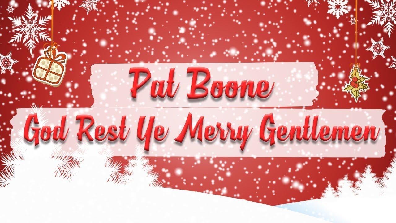 Pat Boone - God Rest Ye Merry, Gentlemen // BEST CHRISTMAS SONGS - YouTube