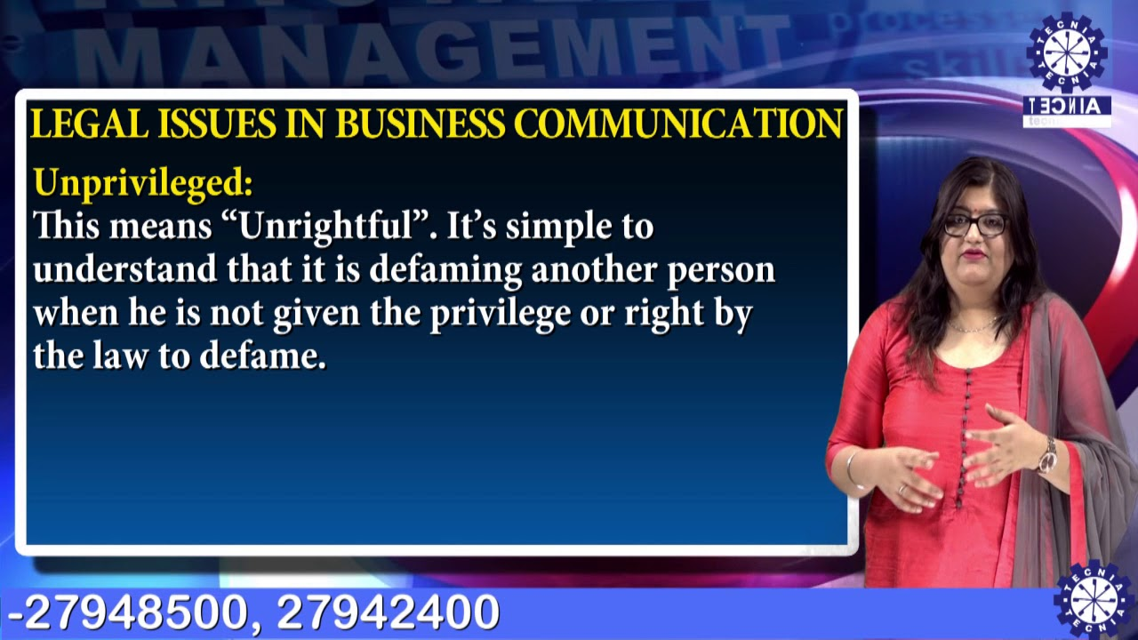 ethical and legal issues in business communication