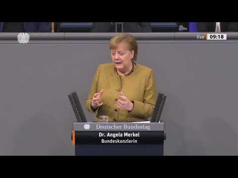 Merkel-Regierungserklärung im Bundestag