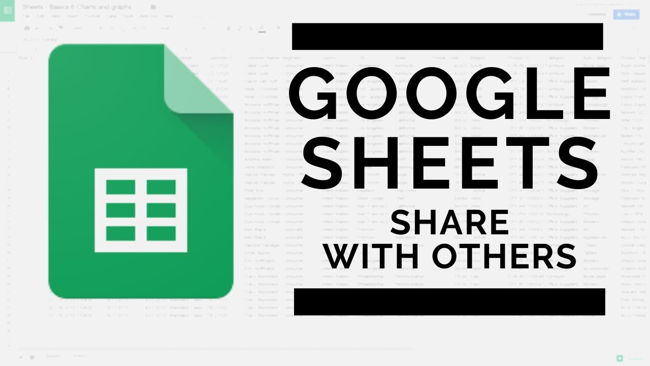 Google Sheets - Share Your Spreadsheet With Others - 2020 Update