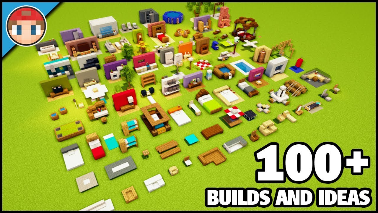 100 Minecraft Furniture Ideas And Build Hacks You Can Build As Well Youtube