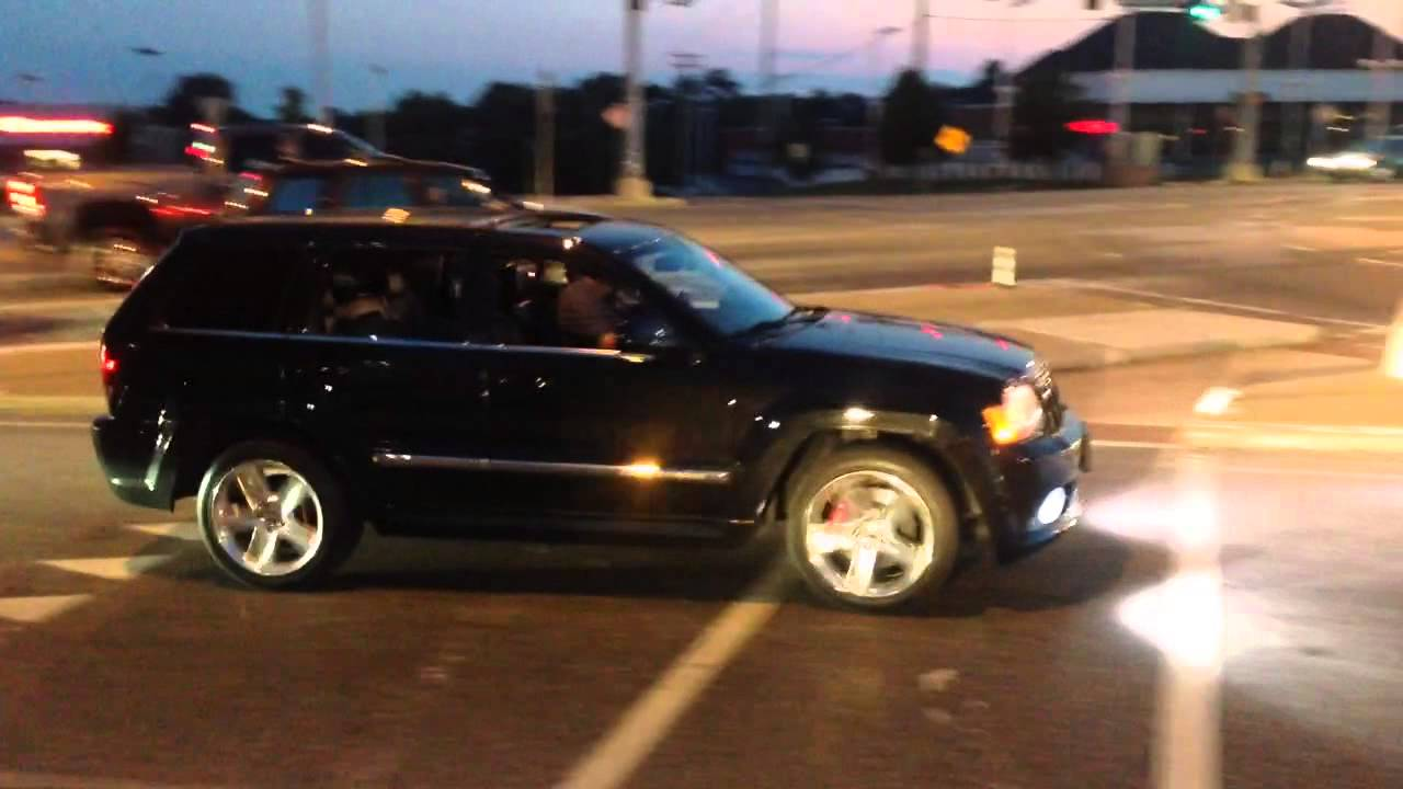 2008 jeep srt8 straight pipe - youtube