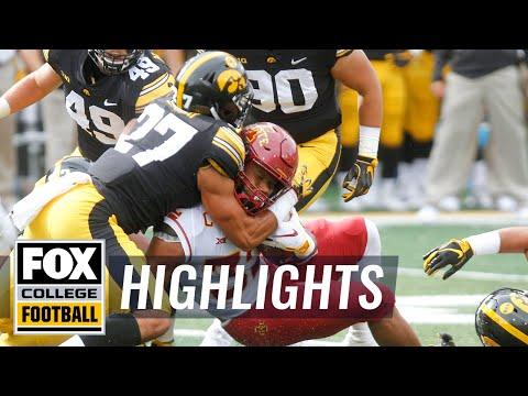 Iowa vs Iowa State   FOX COLLEGE FOOTBALL HIGHLIGHTS