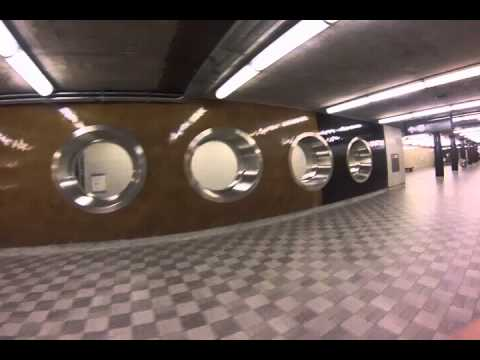 TTC Sheppard-Yonge Subway Station, Toronto Canada (GoPro Hero 3 night test)