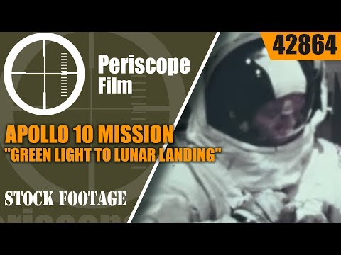 "APOLLO 10 MISSION  ""GREEN LIGHT TO LUNAR LANDING"" 1969 NASA FILM  42864"