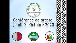 CONFÉRENCE DE PRESSE MRCD-UBUMWE DU 01/10/2020