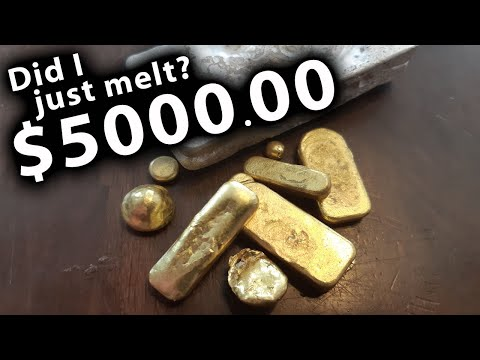 How to make a gold bar (and silver bar too!)