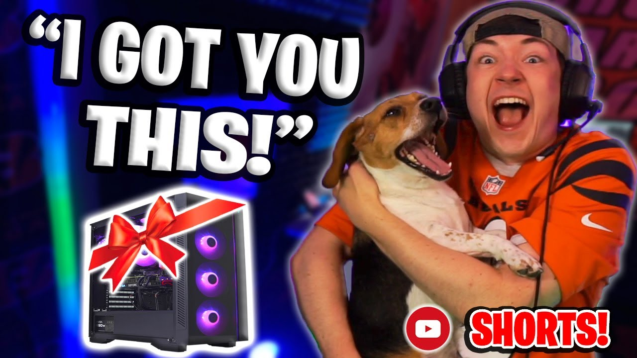 I surprised my dog with his own GAMING SETUP...then this happened at the end #SHORTS
