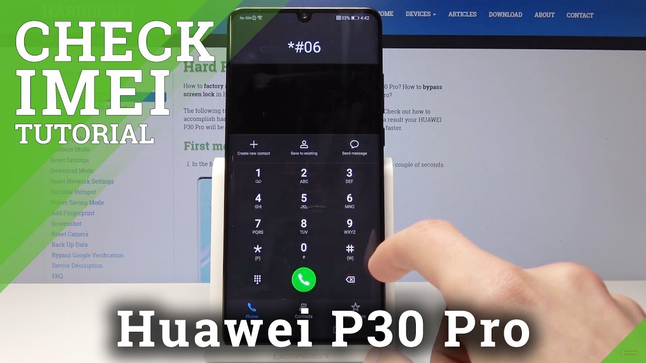 How to Locate IMEI & Serial Number in HUAWEI P30 Pro - Check IMEI