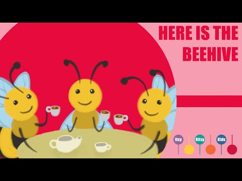 Here Is The Beehive Song | ItsyBitsyKids