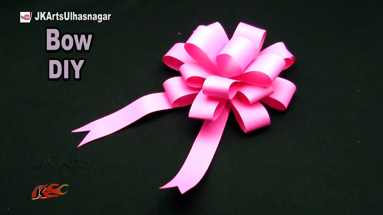 Diy easy paper bow gift wrap how to make jk arts 1051 paperbow diy easy paper bow gift wrap how to make jk arts 1051 paperbow youtube solutioingenieria Image collections