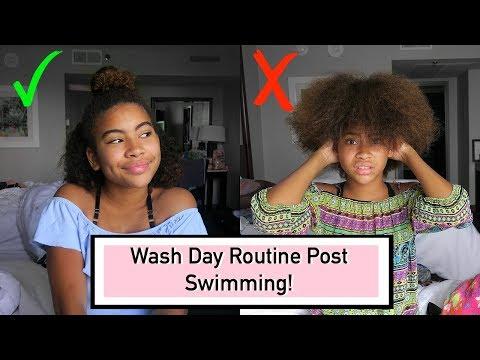 Post Swimming Curly Hair Routine - REALISTIC || Nikki Bruner