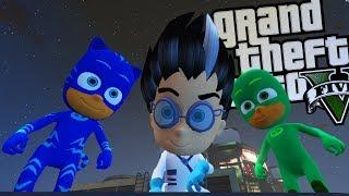 "PJ MASK ""ROMEO"" VILLAIN MOD w/ Catboy, Gekko & Owlette (GTA 5 PC Mods Gameplay)"