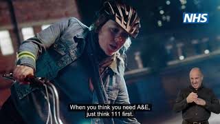 NHS111 First TV ad - BSL and Subtitles