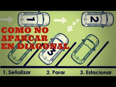 Como no aparcar en diagonal