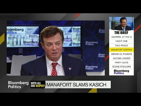 Manafort Slams Kasich at Bloomberg Politics Breakfast