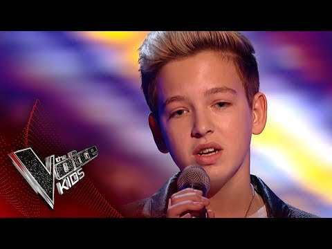 Riccardo performs 'Hallelujah': Blinds 1 | The Voice Kids UK 2017