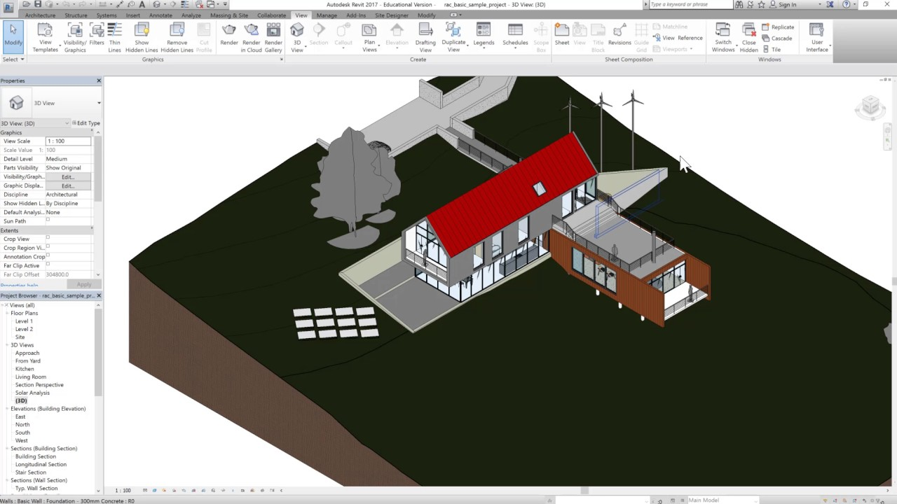 Revit 2017 Tutorials: Beginner-Revit Interface