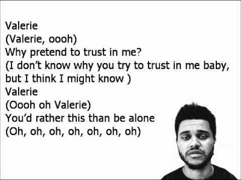 The Weeknd- Valerie Lyrics